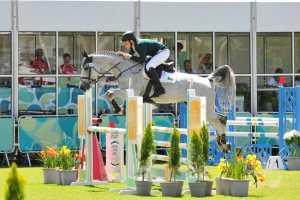 Philip Greenlees com Denise Z em ação nos Jogos Olímpicos da Juventude 2018 (Hector Garrido)