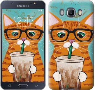 Чехол на Samsung Galaxy J7 (2016) J710F Зеленоглазый кот в ...
