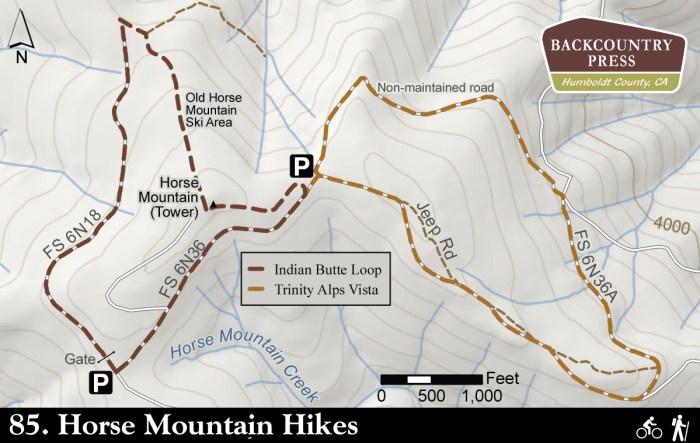 Hiking Horse Mountain