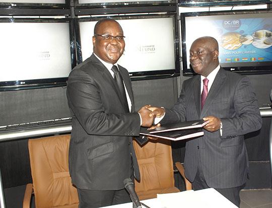 Edoh Kossi Amenounve (BRVM) et Félix Bikpo (AGF)