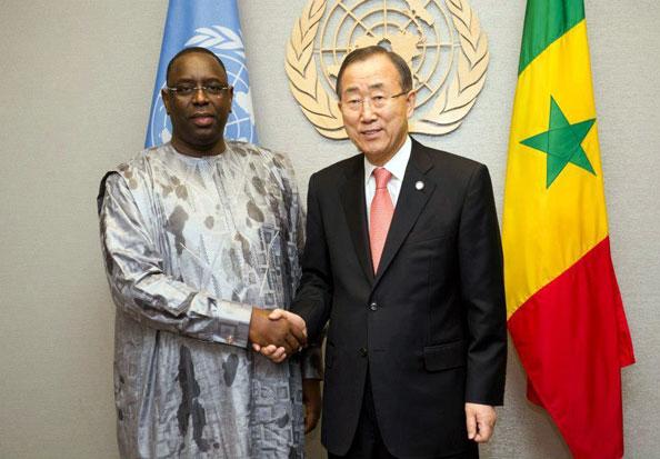 S.E Macky Sall  et Ban Ki-moon (ONU)