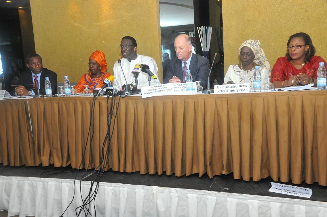 Amadou Ba, lors de la présentation rapport du FMI sur les perspectives économiques en Afrique