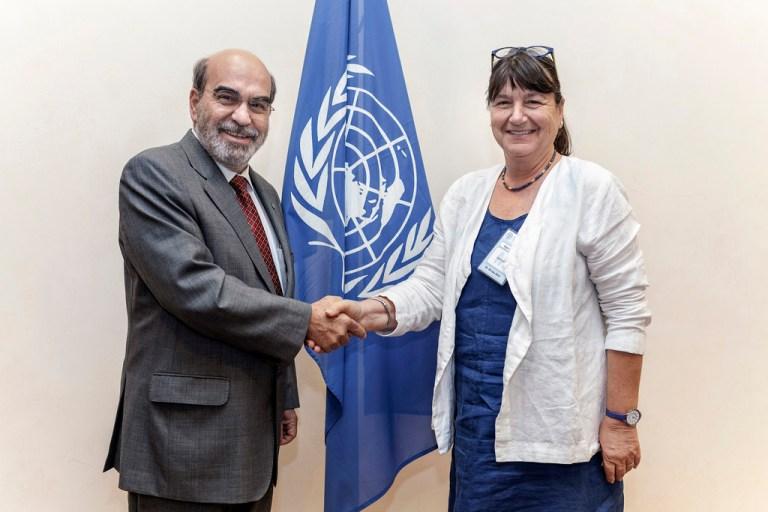 Hilal Elver rapporteuse spéciale des Nations unies pour le droit à l'alimentation,   en compagnie de José Graziano da Silva   de la FAO