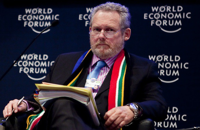 Rob Davies, Ministre sud-africain du Commerce ici au Forum de Davos en 2011