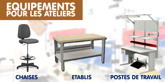 tables et chaises pour poste de travail et atelier. Black Bedroom Furniture Sets. Home Design Ideas