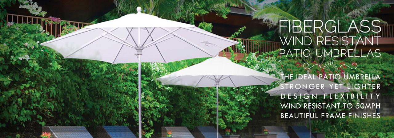 wind resistant patio umbrellas