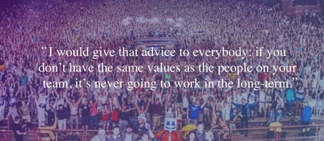 Ben Klein's music industry advice to have the same values as the people on your team.