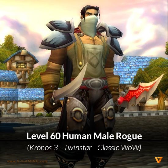 Human Male Rogue Level 60 Kronos 3 Wow