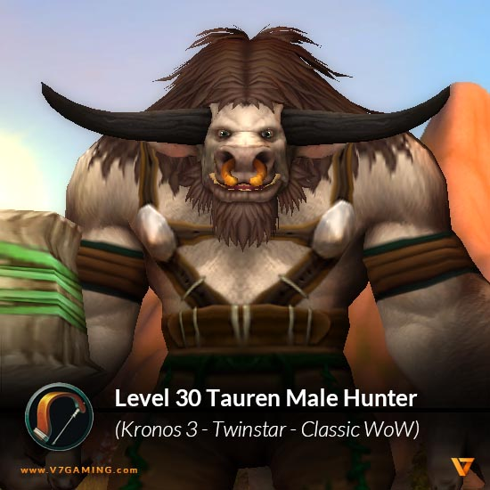 twinstar-kronos3-tauren-male-hunter-level-30