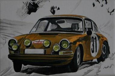 Für diesen Rallye-Porsche ließ sich Vidal von der Kundenzeitschrift Christopherus inspirieren. Zu verkaufen.
