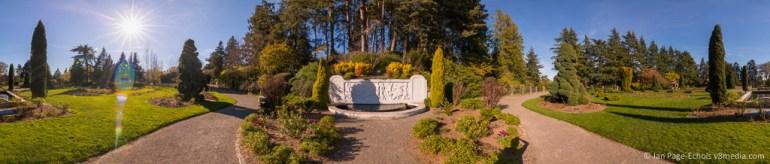 Woodland Park Rose Garden panorama