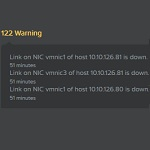 Nutanix: vmnic down warnings after vSphere 6.0 upgrade