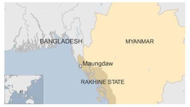 rohingya rakhine map