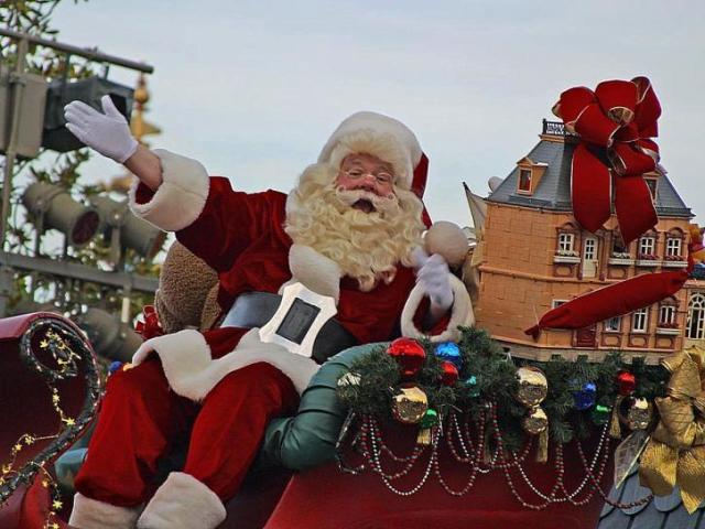 Llevar a los niños a ver a Santa