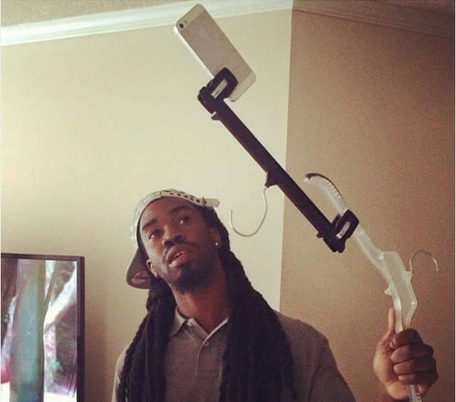 Palo de selfie casero