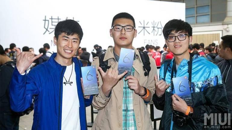 Presentación del Xiaomi Mi 6 en China