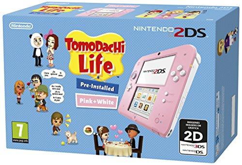 Nintendo 2DS (rosa y blanca) + Tomodachi Life