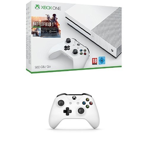 Xbox One - Pack Consola S 500 GB: Battlefield 1 + Mando inalámbrico extra