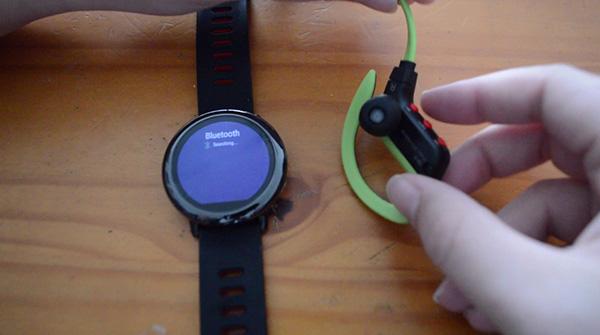Xiaomi Amazfit vinculando auriculares