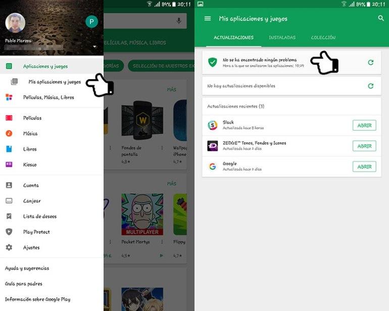 Usar Google Play Protect