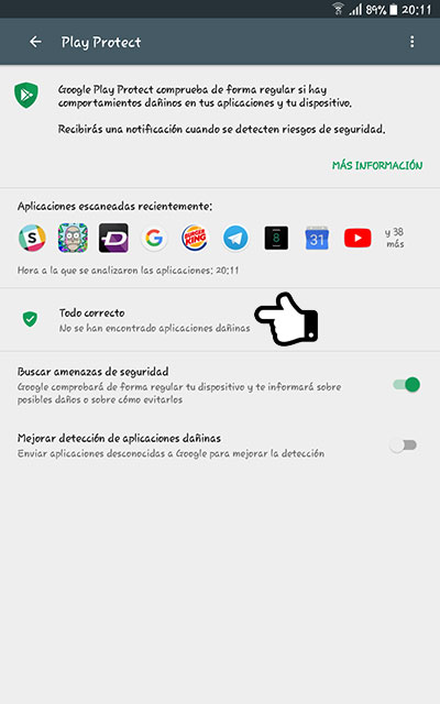 Usar Google Play Protect