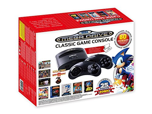 AT-Games - Consola Retro Mega Drive Wireless, Edición Sonic 25 Aniversario