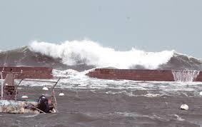 La mer déchaînée à Plouescat