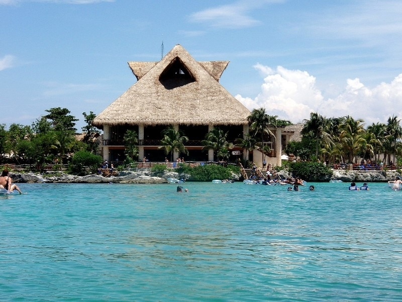 Tubing snorkeling swimming Xel-Ha National Aquarium Mexico with Vacancy Rewards Reviews