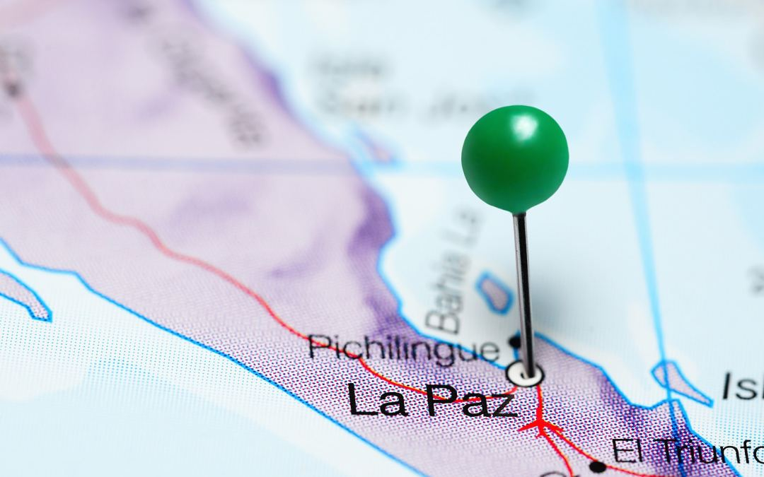 La Paz pinned on a map of Mexico