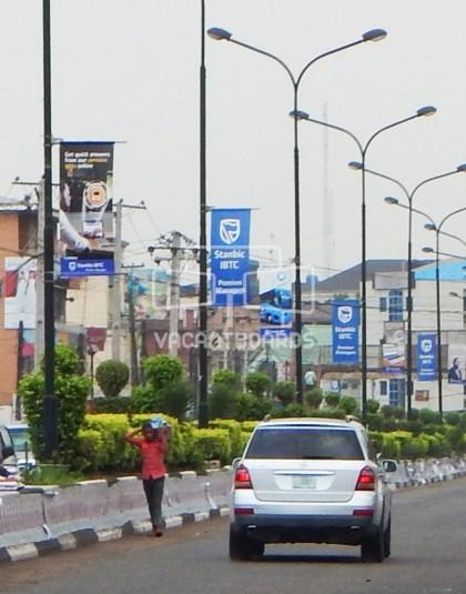 lamp posts, Herbert Macaulay Way, Sabo,Lagos