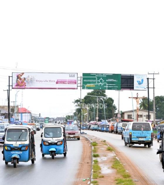 Directional Gantry Billboard – Okpanam, Asaba