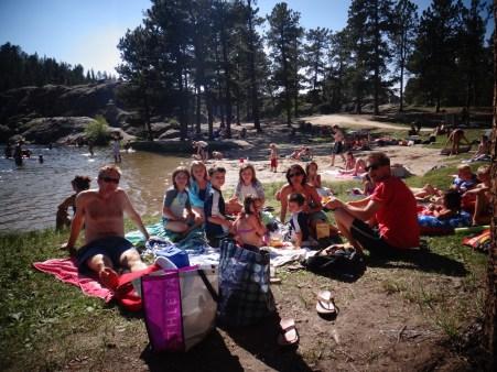 Picnic at Sylvan Lake.