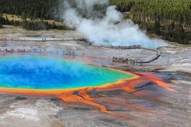 Berühmte Orte zu besuchen: Yellowstone National Park, USA