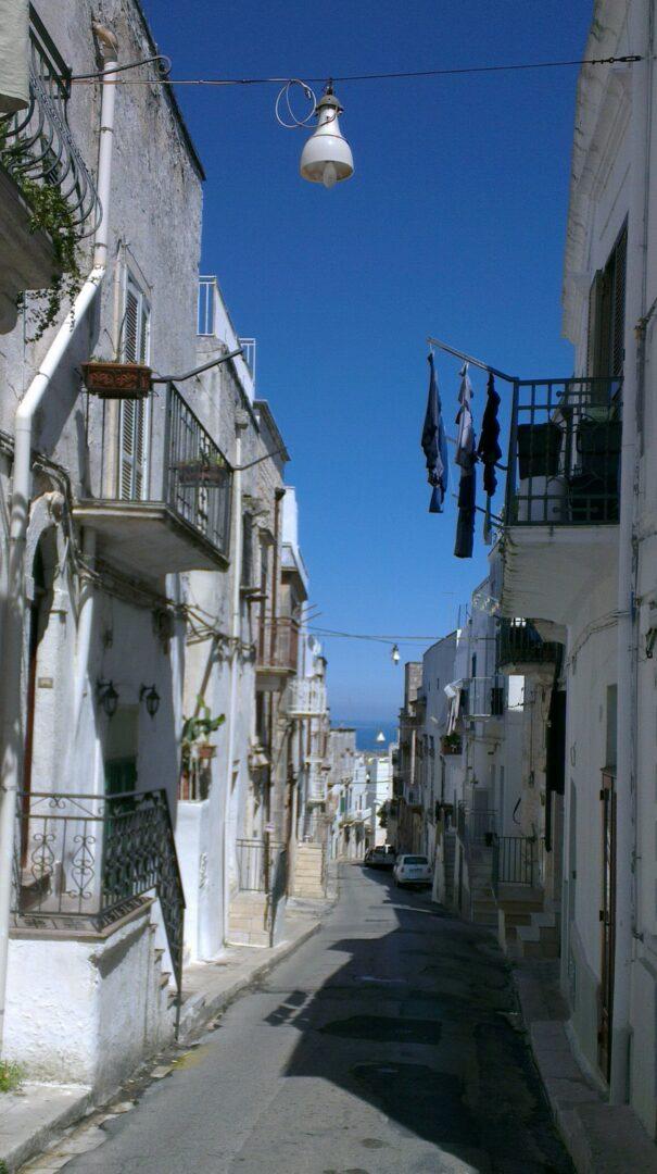 Ostuni narrow street medieval town