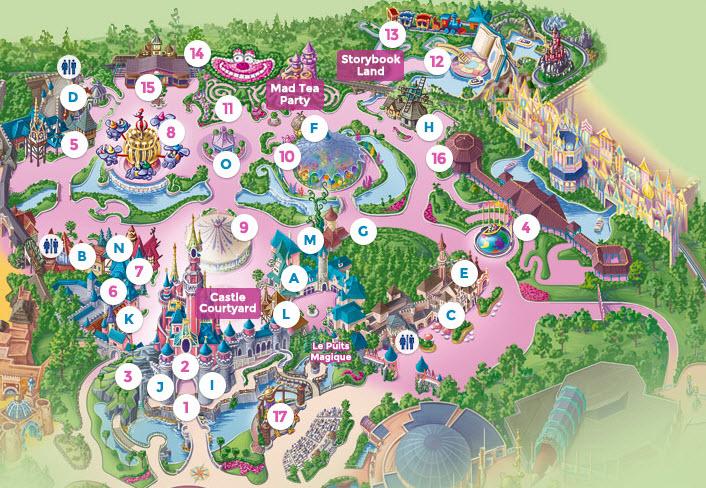 Fantasyland Disney World Map