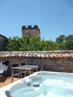 Jacuzzi on the Terrace, Le Domain de Monteils, Languedoc, France