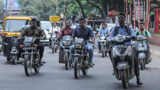 No Helmet riding