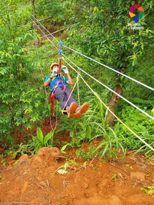 Zip lining at HolisticStay
