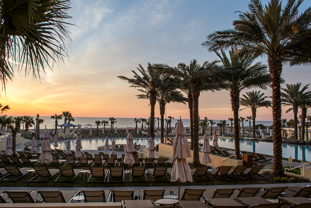 Pool at sunrise at the Omni Amelia Island Beach Club