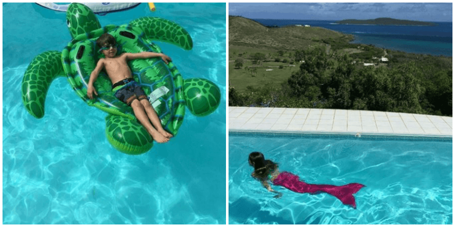 st croix family vacation pool day