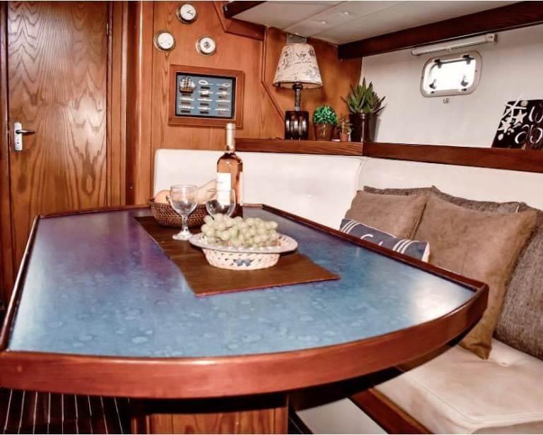 skippered sailing charter yacht