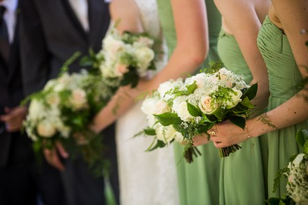 Green bridesmaid dresses are gorgeous anytime of the year!