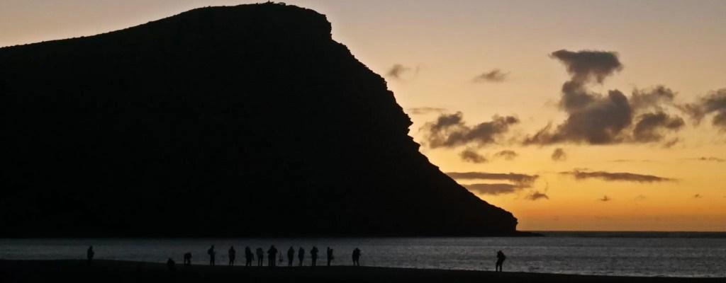 sunrise, playa de la tejita, tenerife