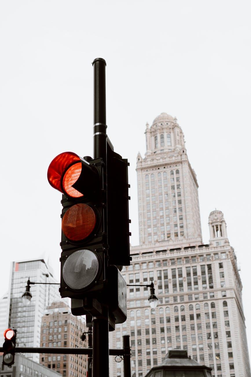 light city road traffic