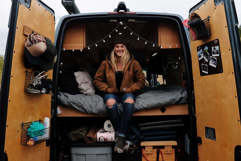 van life solo female traveler