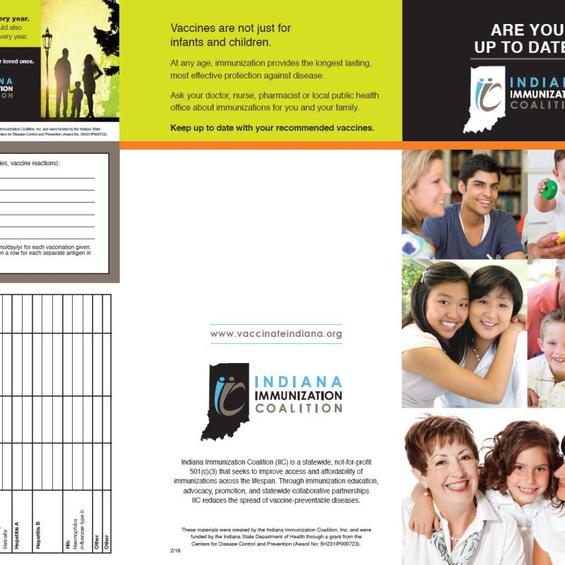 Adult Vaccine Trifold