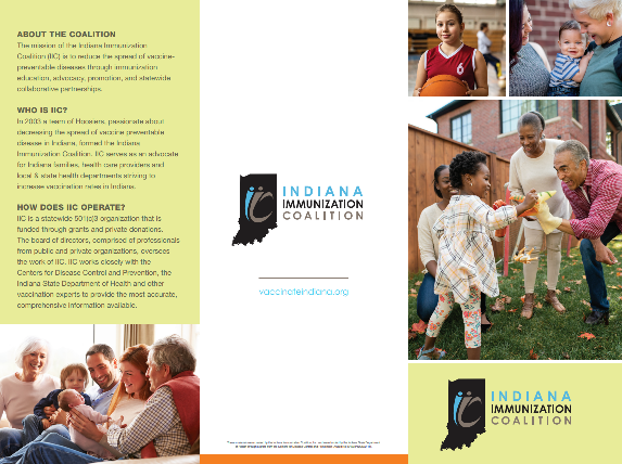 The cover of the IIC trifold pdf