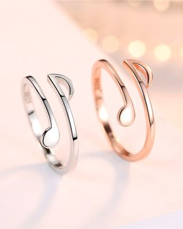adjustable music note ring vacelery