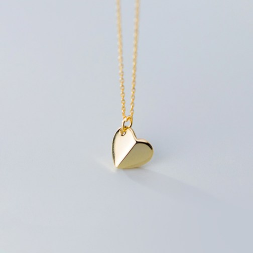 Abstract Heart Shaped Necklace - S925