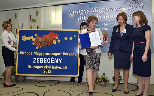 Zebegény a Virágos Magyaroszságért verseny első helyezettje-520
